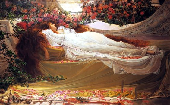 Sleeping-Beauty-by-John-William-Waterhouse